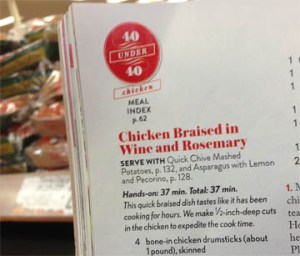 Laurie shops for ingredients for a braised chicken recipe