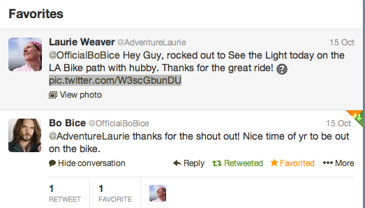 Bo Bice Tweets to Adventure Laurie