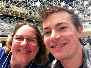 Laurie and Brock Warrener at the New Media Expo