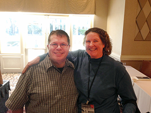 Cliff Ravenscraft and Laurie Weaver at the New Media Expo